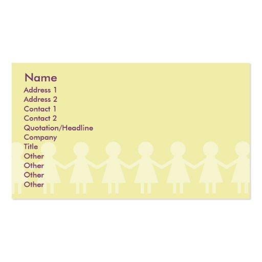 Children - Business Business Card Templates