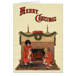 Children by the Fireplace by Jessie Willcox Smith Card