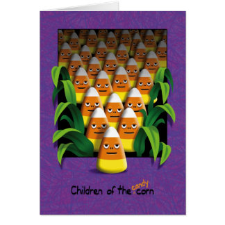 Children Candy Corn Halloween Card