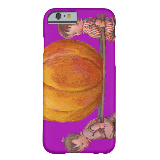 Children Carrying Giant Pumpkin Purple Barely There iPhone 6 Case