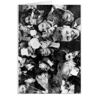 Children celebrating Victory Day Greeting Card