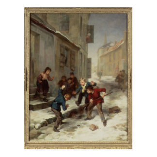 Children Chasing a Rat Postcard
