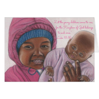 Children Come to Me~Scripture~Baby Card