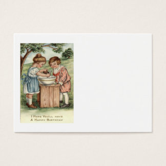 Children Cooking Baking Outdoors Business Card
