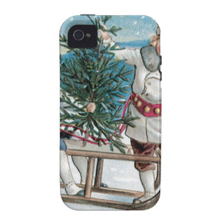 Children cutting down a Christmas Tree Case-Mate iPhone 4 Covers