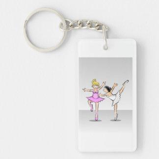 Children dancing ballet with glamor key ring