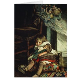 Children dreaming of toys card
