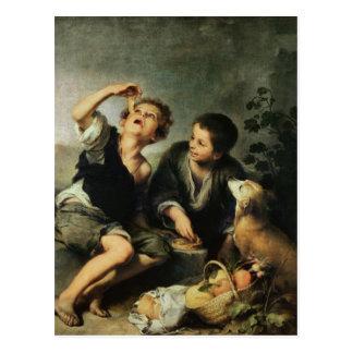 Children Eating a Pie, 1670-75 Postcard
