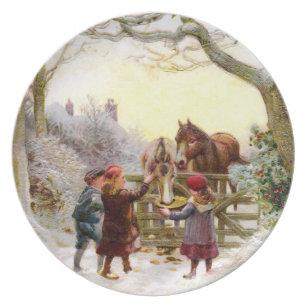 Children Feeding Horses Antique Christmas Plate  sc 1 st  Zazzle & Antique Christmas Plates | Zazzle.com.au
