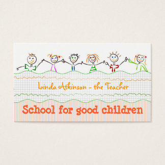 children friendship business card