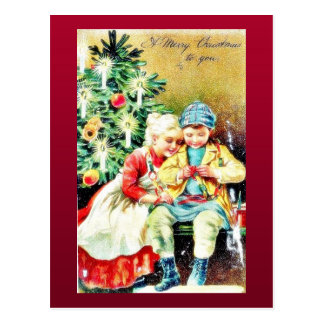 Children getting ready for Christmas night by prep Post Card