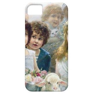 Children girls boys lamb cat pets iPhone 5 covers