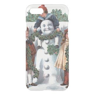 Children Hanging Holly Garland Snowman iPhone 7 Case