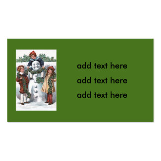 Children Hanging Holly Garland Snowman Pack Of Standard Business Cards