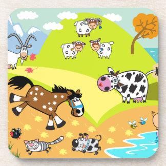 children illustration coaster