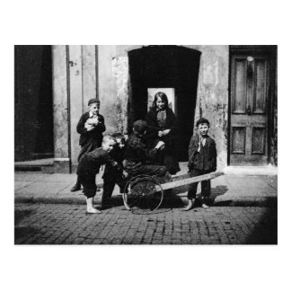 Children in a London slum Postcard