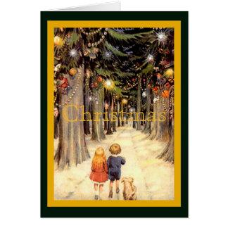 Children in Christmas Lane Card