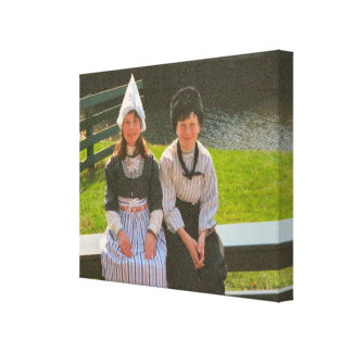 Children in Dutch National Costume Gallery Wrapped Canvas
