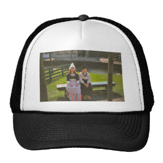Children in Dutch National Costume Mesh Hat