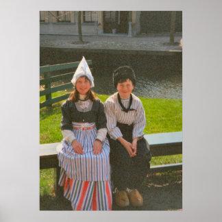Children in Dutch National Costume Poster