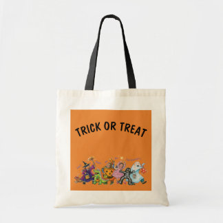 Children in Halloween Costumes Trick or Treat Tote Bag