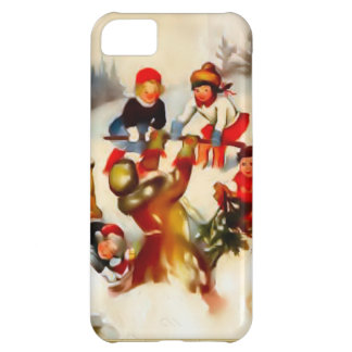 Children in the snow iPhone 5C cover