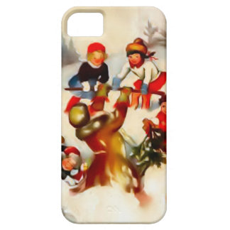 Children in the snow iPhone 5 cover