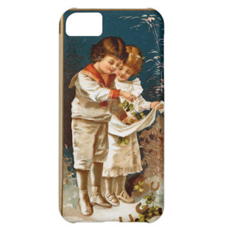 Children in white iPhone 5C covers