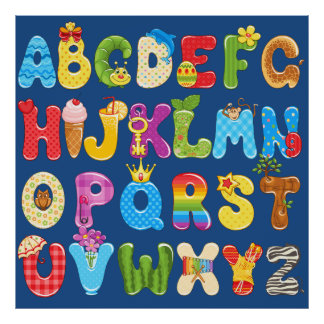 Children Letters Alphabet Kids Baby Room Decor