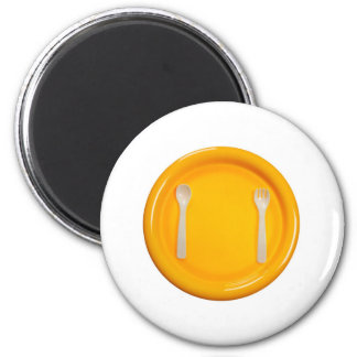 Children meal time 6 cm round magnet