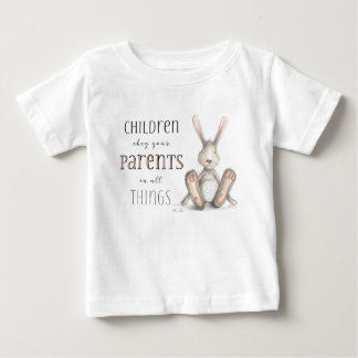 Children Obey Your Parents-Col 3:20 Baby T-Shirt