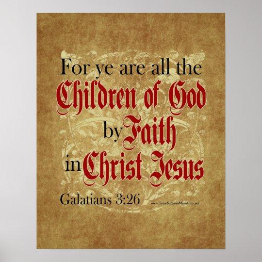 Children of God by Faith Poster
