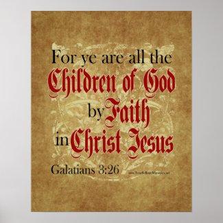 Christian Poster: Galatians 3:26