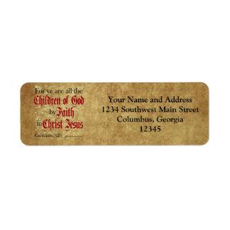 Children of God by Faith Return Address Label