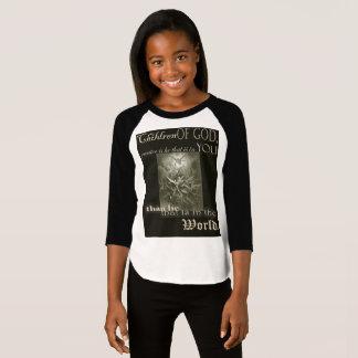 Children of God Girls 3/4 sleeve T-shirt