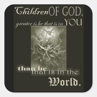 Children of God Square Sticker