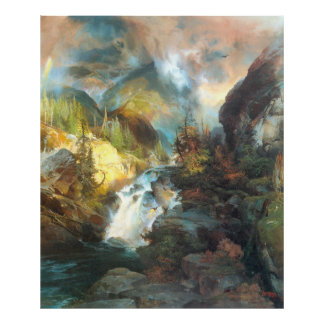 Children of the Mountain, by Thomas Moran Poster