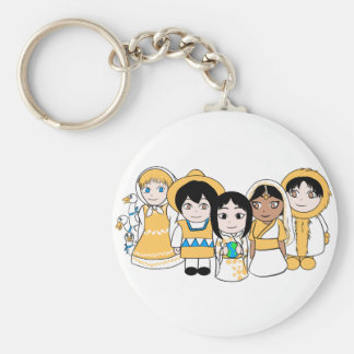 Children of the World Basic Round Button Key Ring