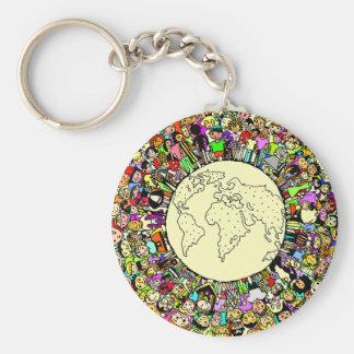 Children of the World Basic Round Button Key Ring