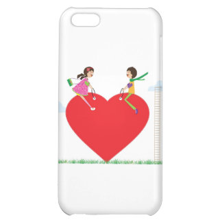 children on a heart shaped see-saw iPhone 5C cases