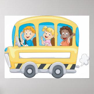 Children On A School Bus Poster