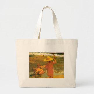 Children on the Sea-shore - Joaquín Sorolla Jumbo Tote Bag