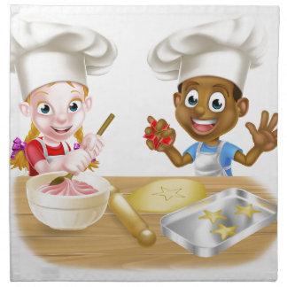 Children Playing at Cooking Napkin