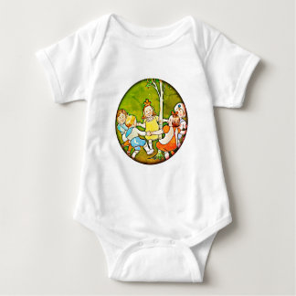 Children playing, dancing  baby training body suit baby bodysuit