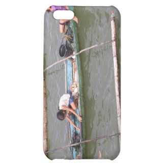 Children playing in a fishing boat iPhone 5C cover