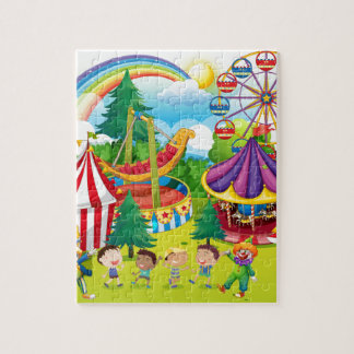 Children playing in the circus jigsaw puzzle