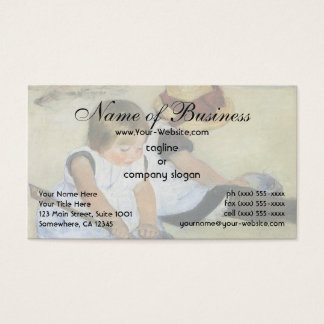 Children Playing on the Beach by Mary Cassatt Business Card