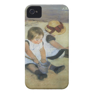 Children Playing on the Beach by Mary Cassatt Case-Mate iPhone 4 Cases