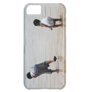 Children playing on the beach iPhone 5C cover