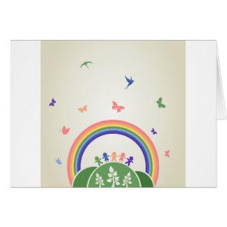 Children rainbow card